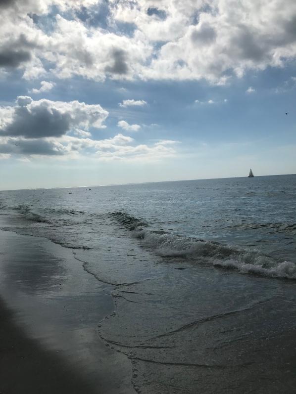 Reduce mental stress at the beach, Sand Key Beach, relaxing next to the ocean, Florida beaches