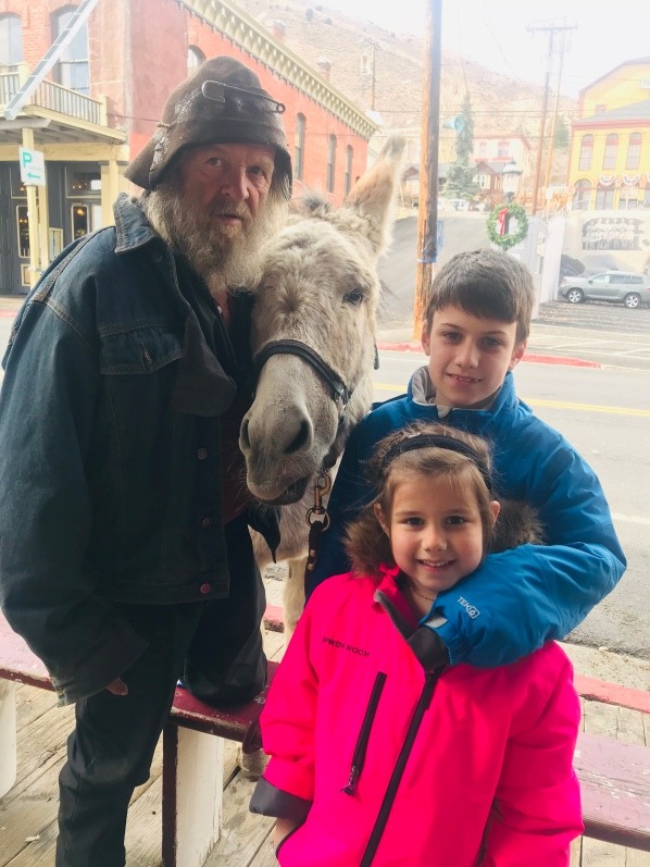 Old man with a mule, Virginia City treasures, mules and the Old West, where to find and old man and a mule out west