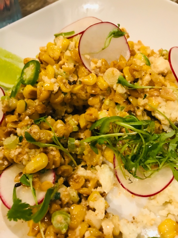 Recipe for Mexican Street corn, corn salsa, fresh ingredients quick salad, corn salad, Mexican corn salad, side dish to impress
