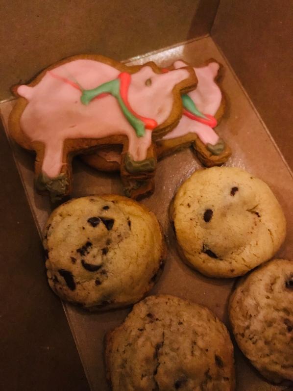 Truffle Pig, pig cookies, Christmas cookies, Santa cookies