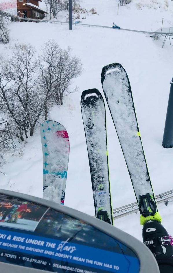 Head Super Joy Skis, skiing, Steamboat Ski Resort