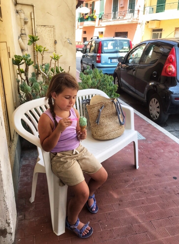 Italy, Italian Rivera, gelato, girl eating gelato in Italy, Italian recipes, real Italy